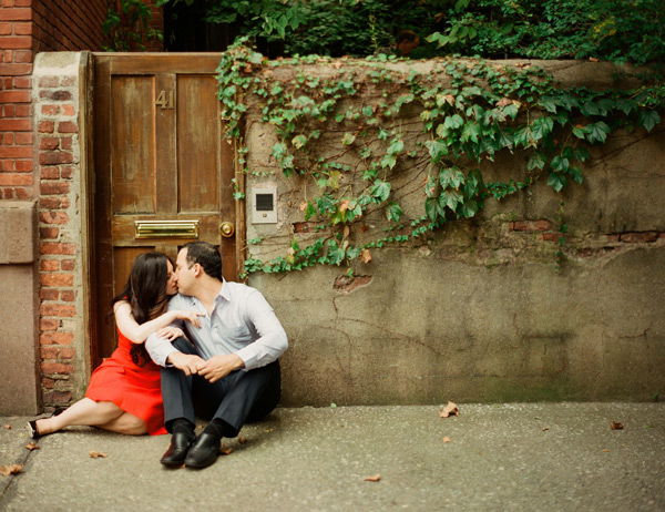 west village engagement picture