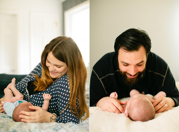 Newborn pictures at home